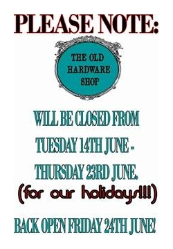Closed from June 14th - open again June 24th