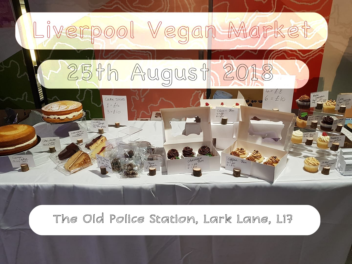 Liverpool Vegan market - August 25th