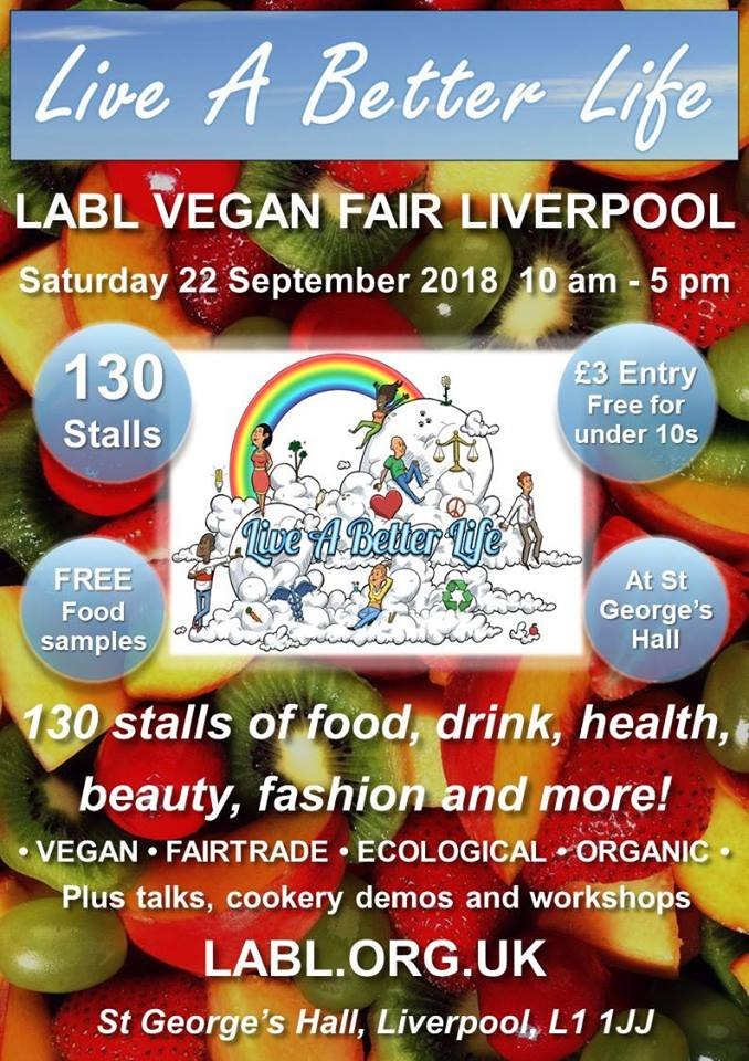 LABL Vegan Fair Liverpool - Sunday 22nd September 2018